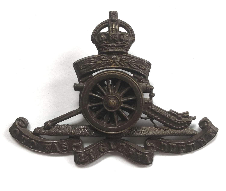 Territorial Artillery post 1908 Officer's OSD cap badge