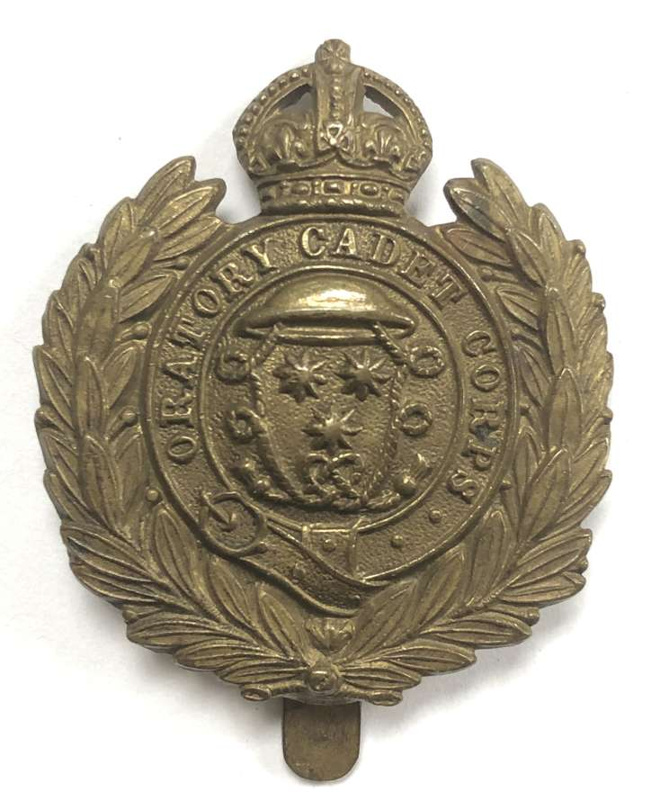 Oratory Cadet Corps brass cap badge