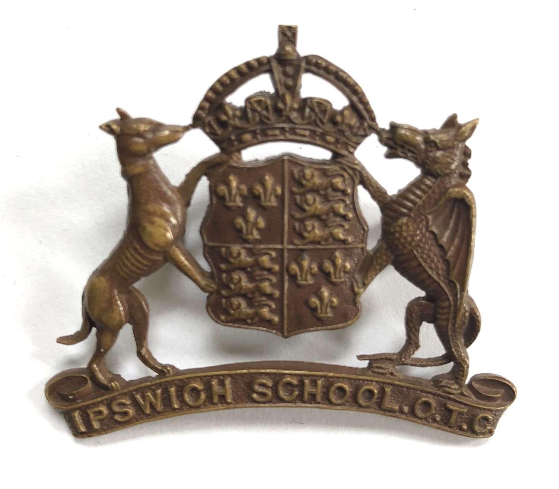 Ipswich School OTC ,Suffolk OSD bronze cap badge