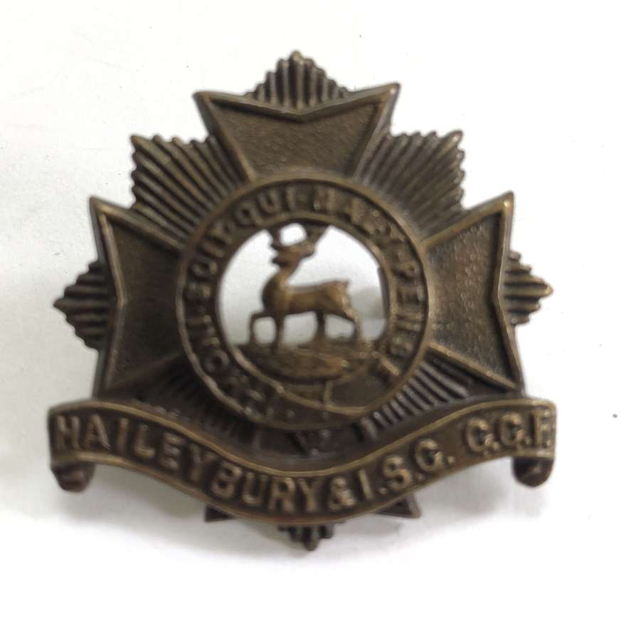 Haileybury & Imperial Service College CCF OSD bronze cap badge