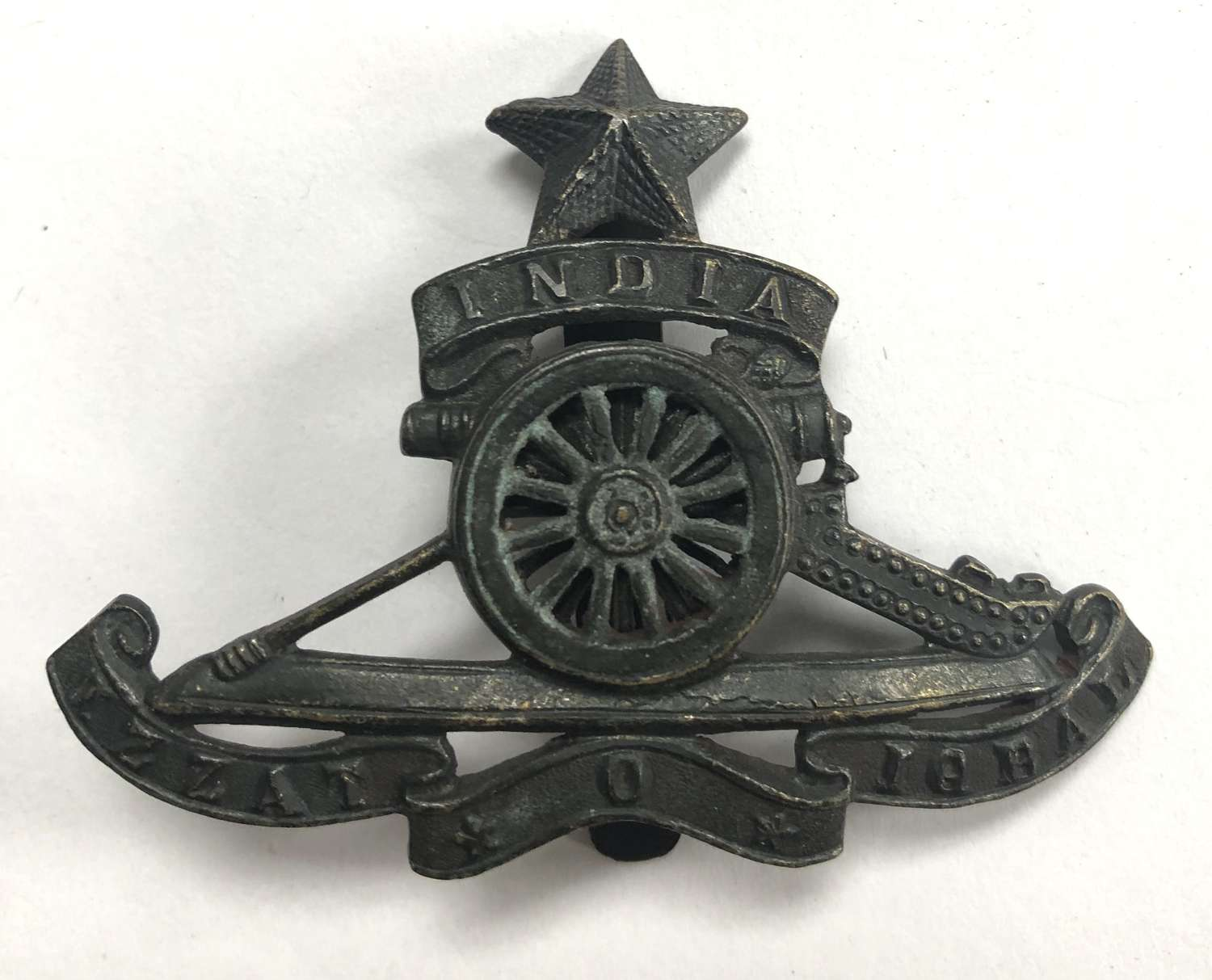 Indian Army Artillery cap badge