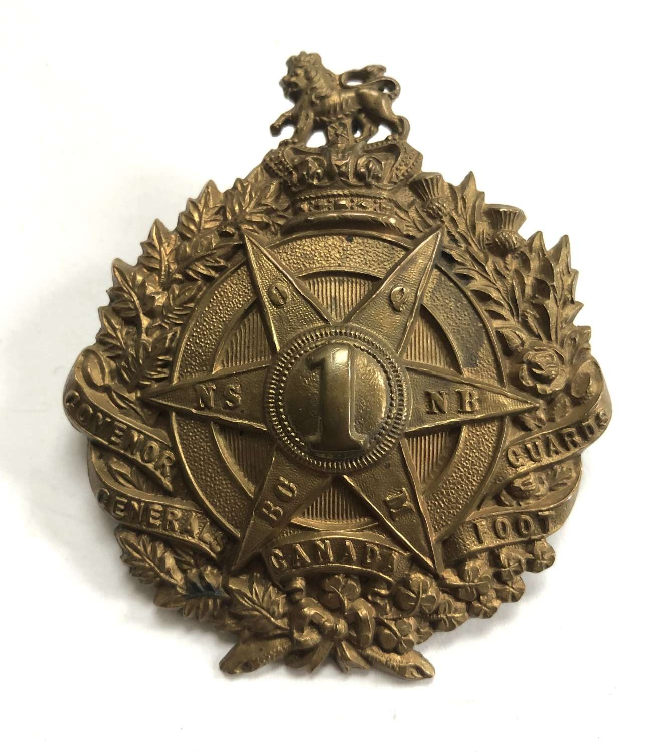 Canadian. Governor Generals Foot Guards Vicrorian glengarry badge