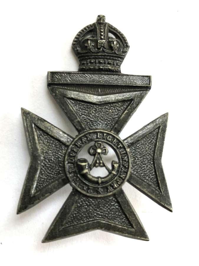 2nd VB Durham Light Infantry Edwardian OR's cap badge circa 1902-08