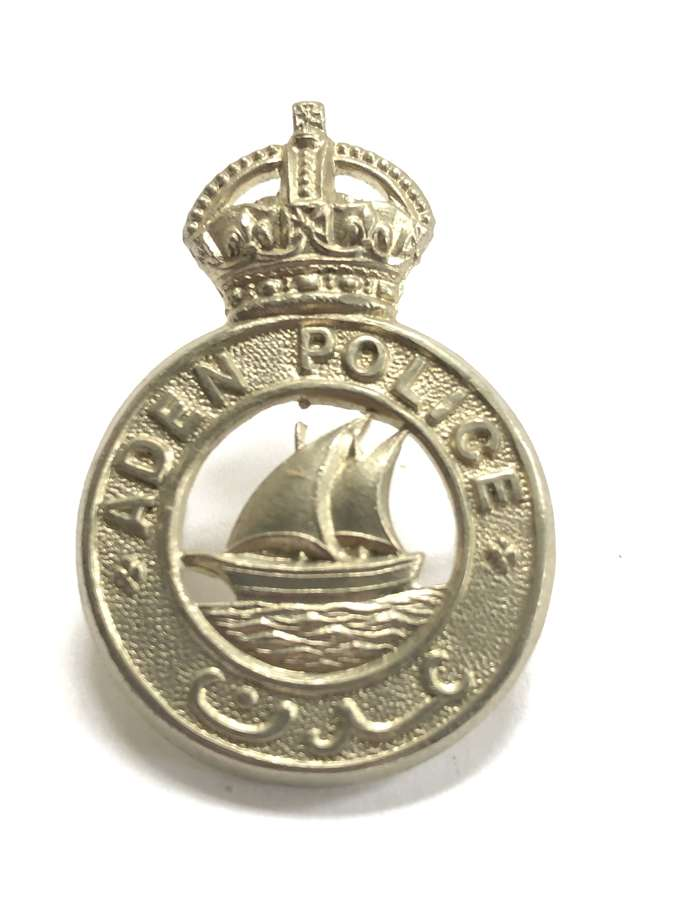 Aden Police pre 1953 cap badge by Firmin, London