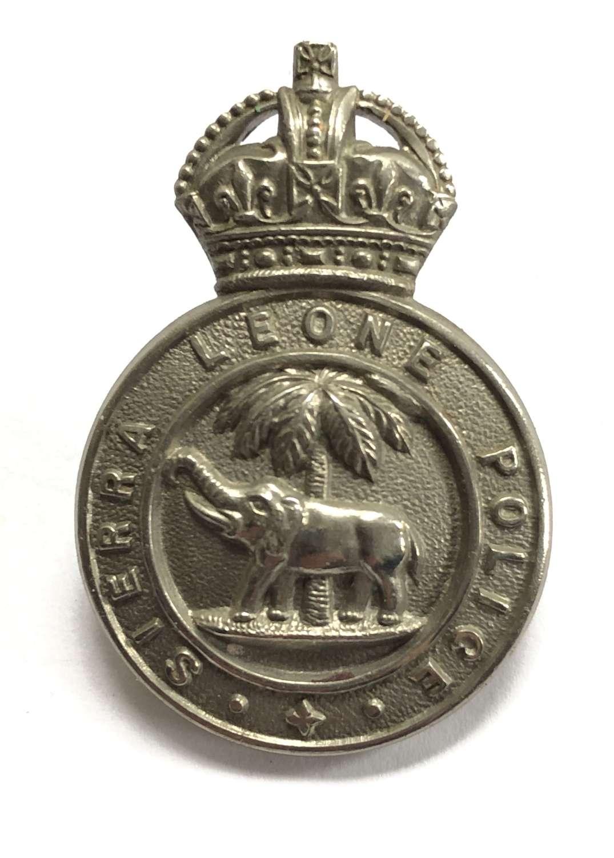 Sierra Leone Police pre1953 cap badge