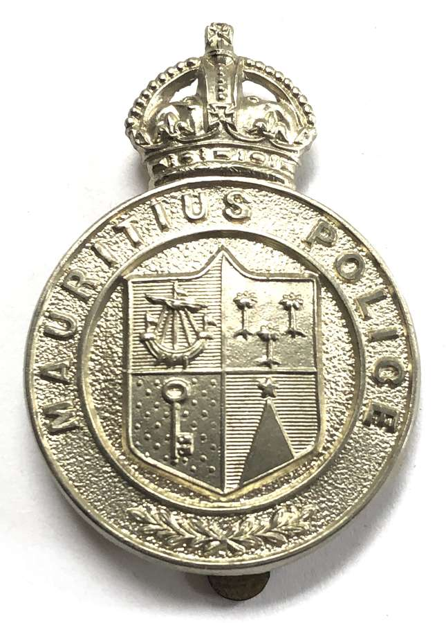 Mauritius Police pre 1953 cap badge by Firmin, London