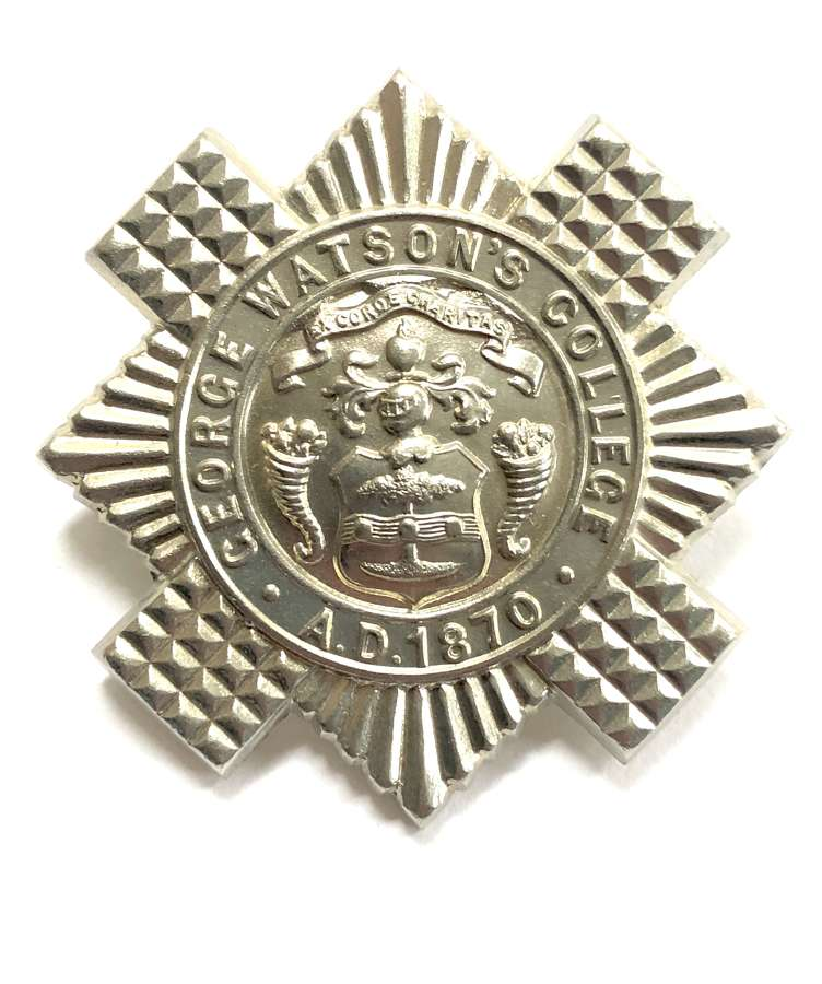 Scottish George Watson's College, Edinburgh OTC glengarry badge