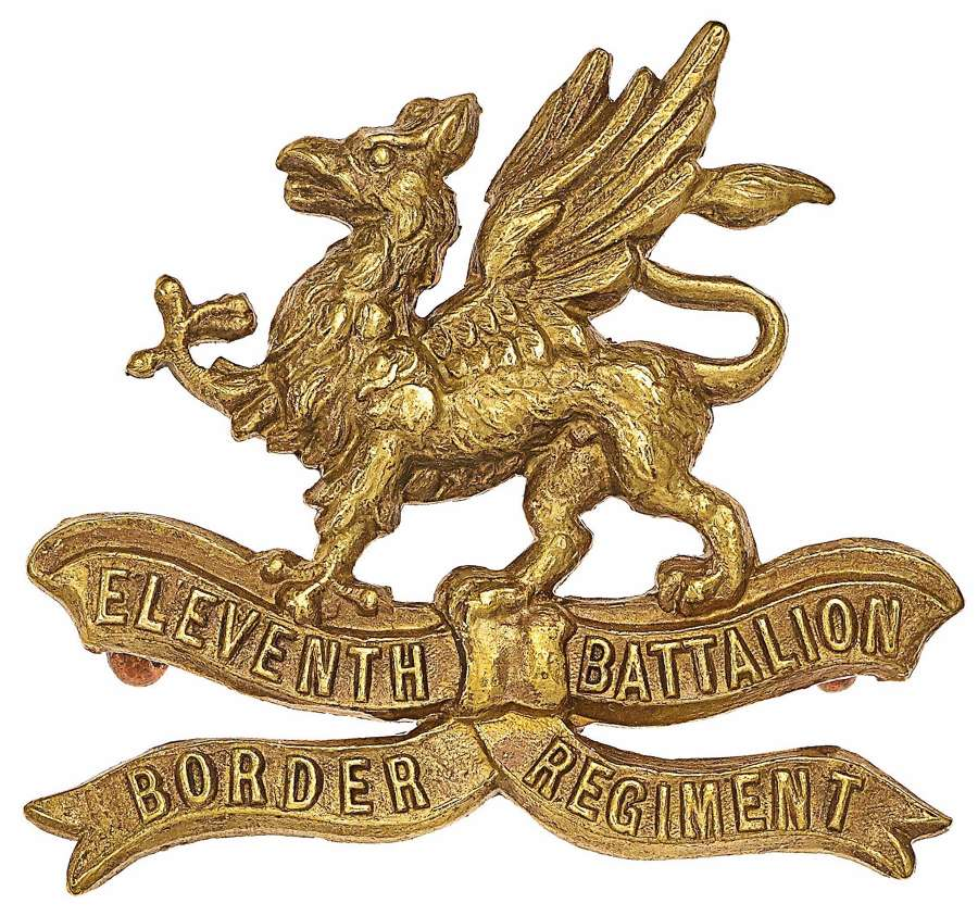 11th (Lonsdale) Battalion Border Regiment WW1 OR's cap badge