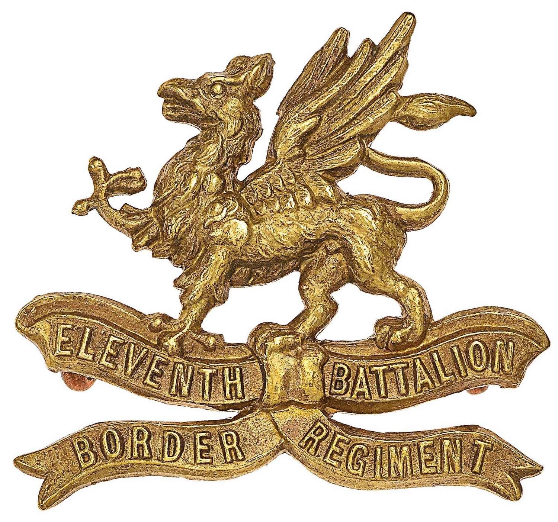 11th (Lonsdale) Battalion Border Regiment WW1 OR's cap badge