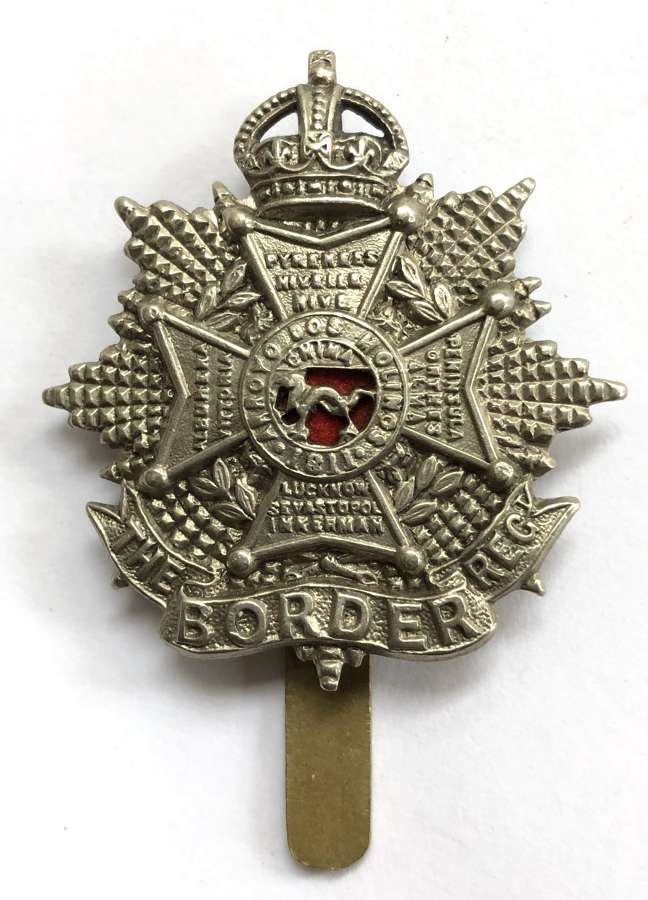 Border Regiment Edwardian small OR's cap badge circa 1901-05