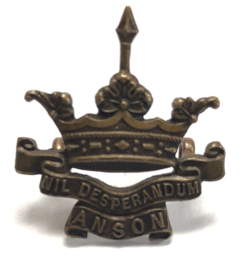 Royal Naval Division, Hood Bn. OSD collar badge by Gaunt, London