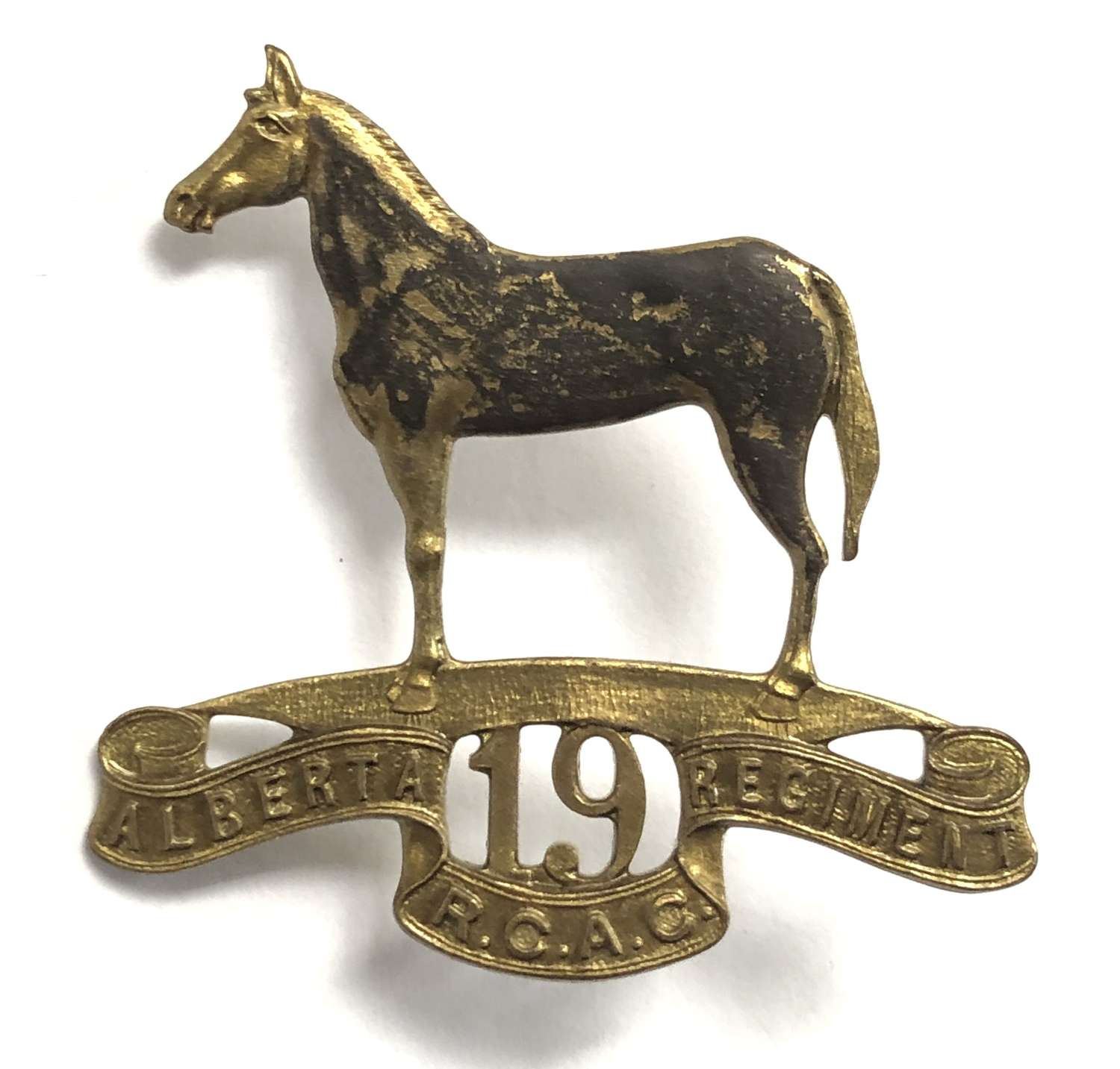 Canadian 19th Alberta Armoured Car Regiment RCAC cap badge