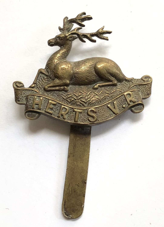 Hertfordshire Volunteer Regiment WW1 VTC cap badge