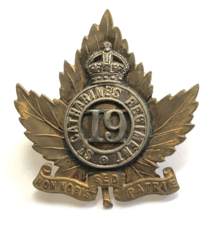 Canadian 19th St.Catherines Regiment Officer's cap badge C1901-12