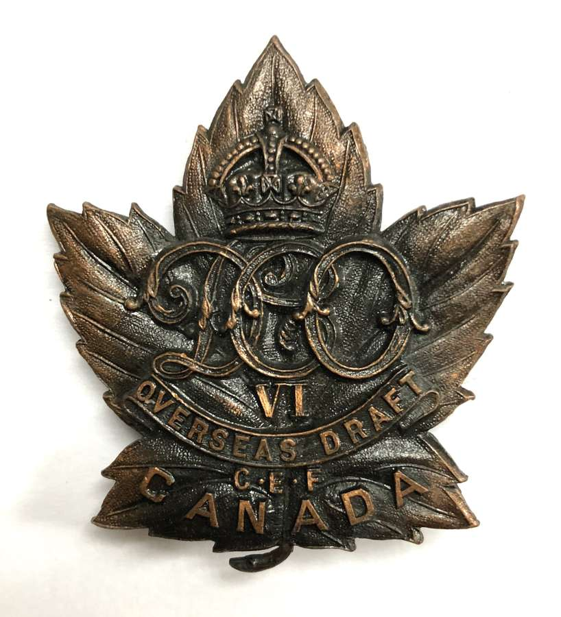Canadian 6th Duke of Connaught's Own Overseas Draft CEF cap badge