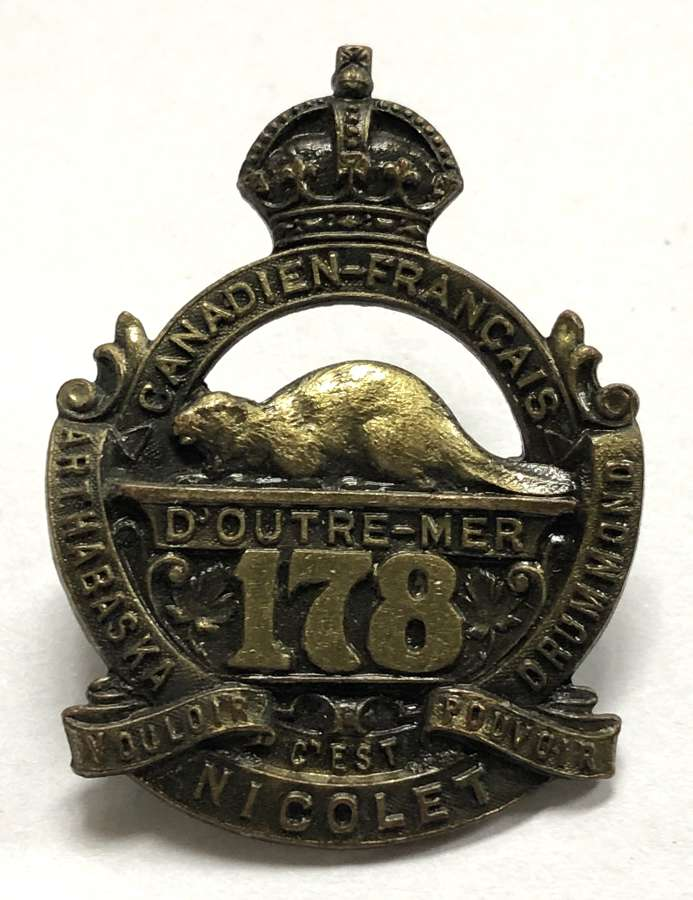 Canadian 178th CEF WW1 cap badge