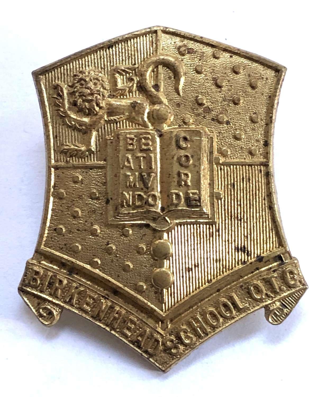 Birkenhead School OTC brass cap badge