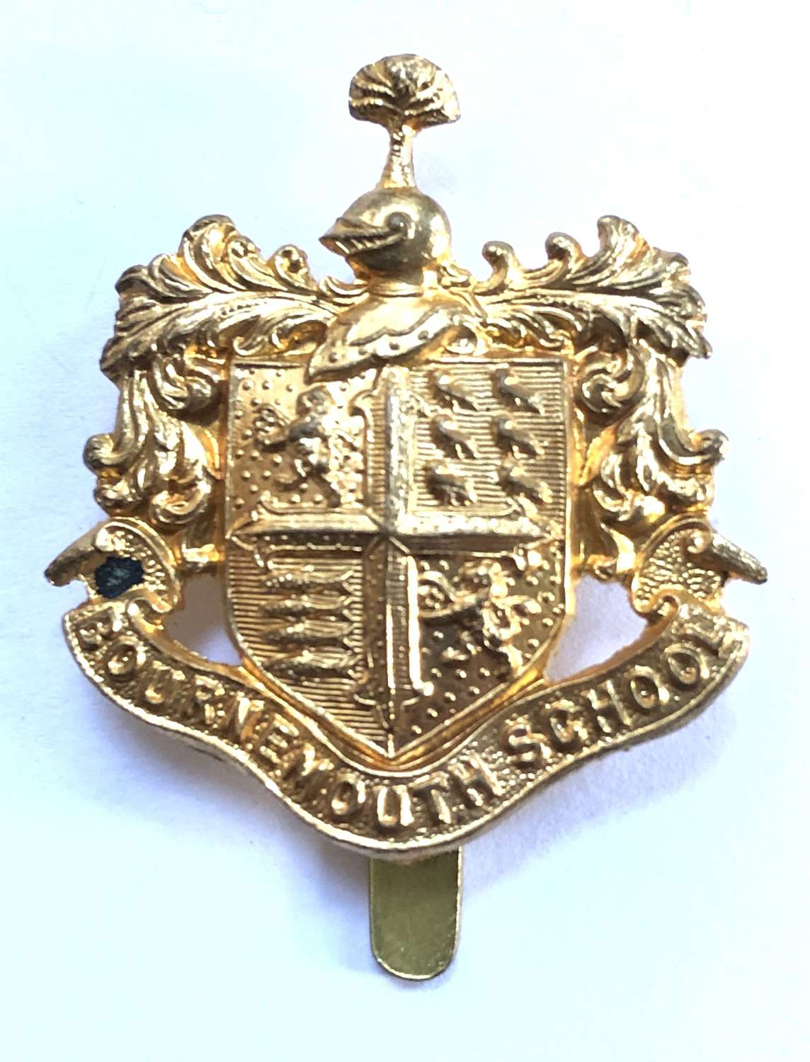 Bournemouth School OTC rare brass cap badge