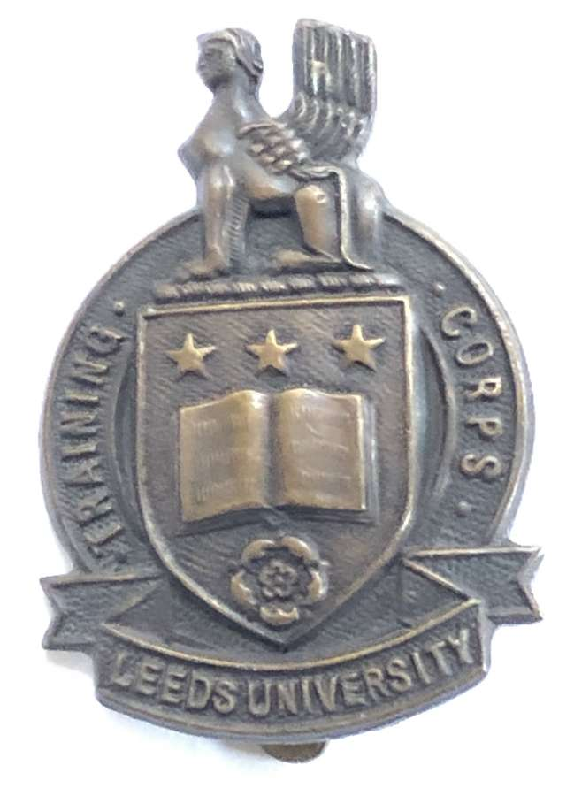 Leeds University Training Corps cap badge