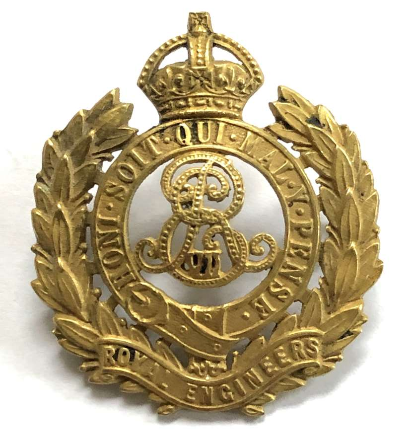 Royal Engineers Edwardian Officer's cap badge circa 1901-10