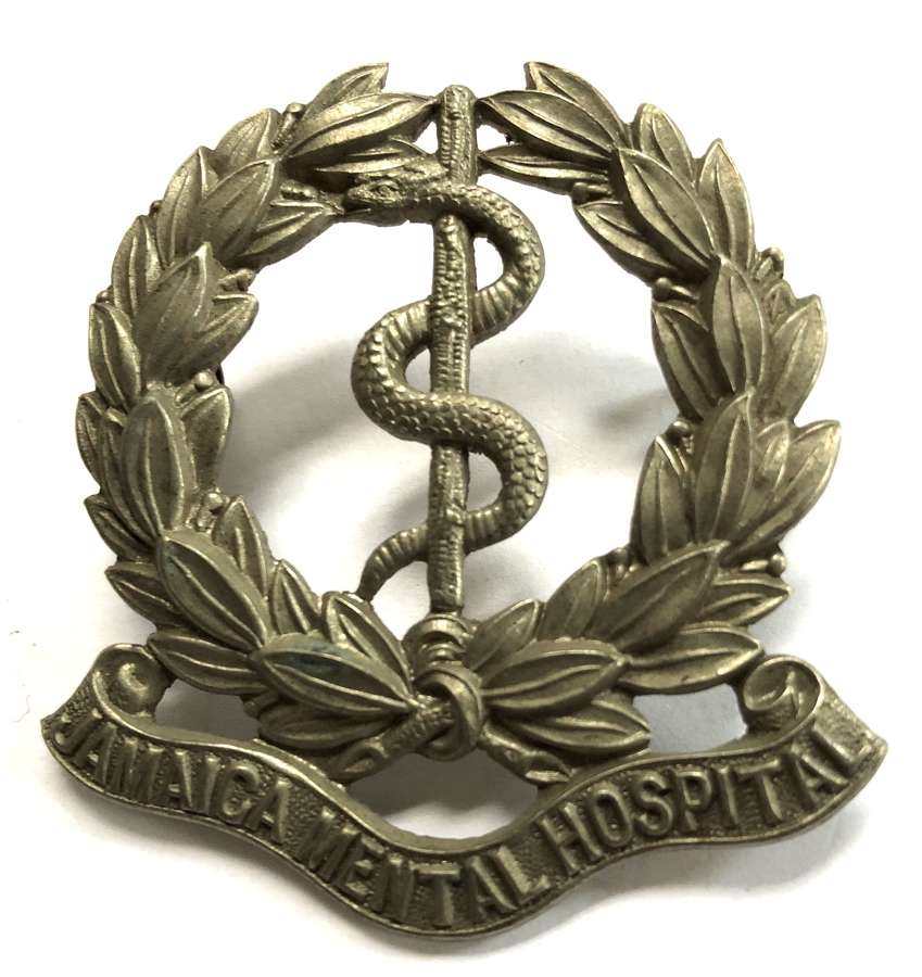 Jamaica Mental Hospital attendent's large cap badge