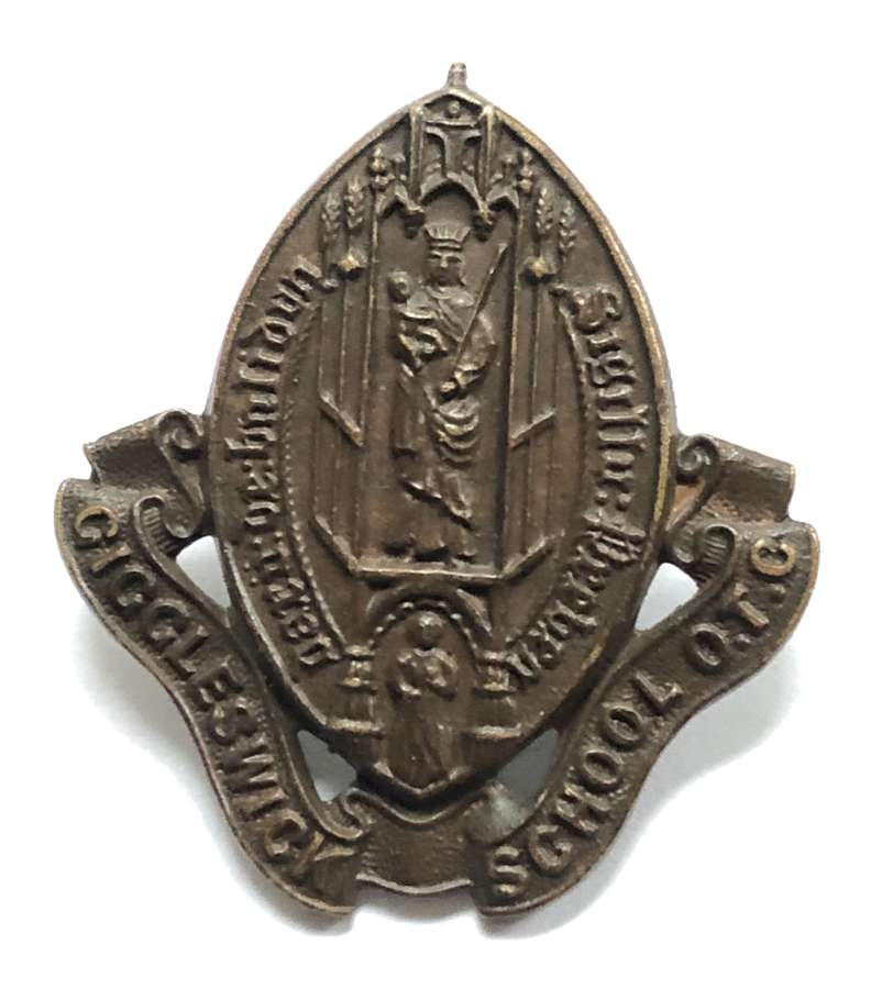 Giggleswick School, York OTC bronze cap badge