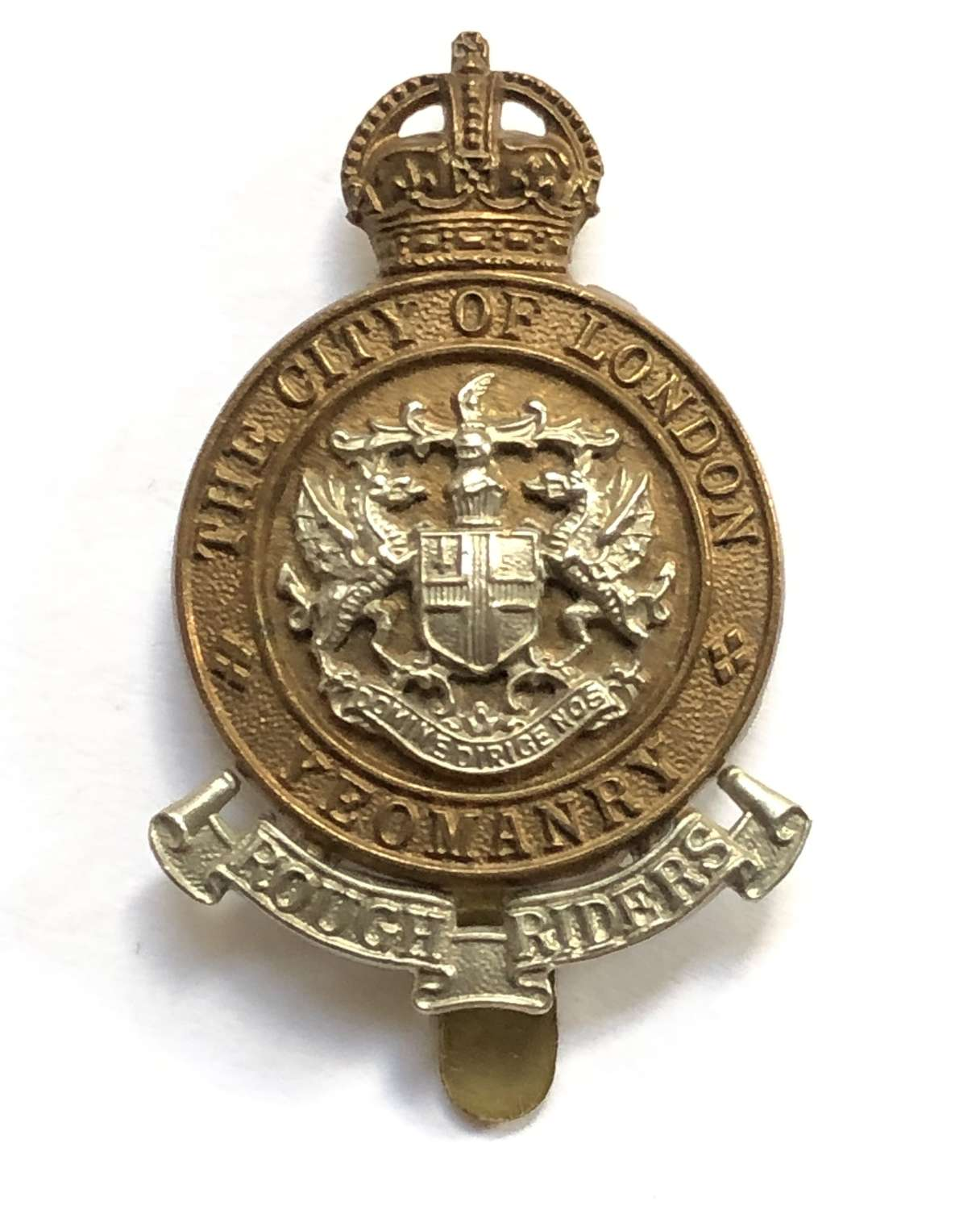 Rough Riders City of London Yeomanry OR's cap badge by Gaunt, London