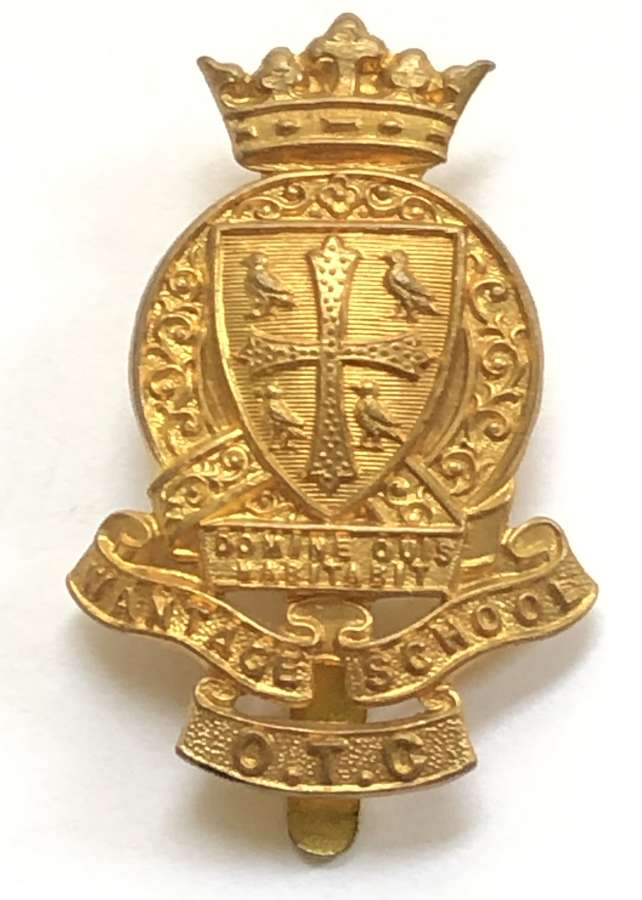 King Alfred's School OTC, Wantage pre 1940 brass cap badge