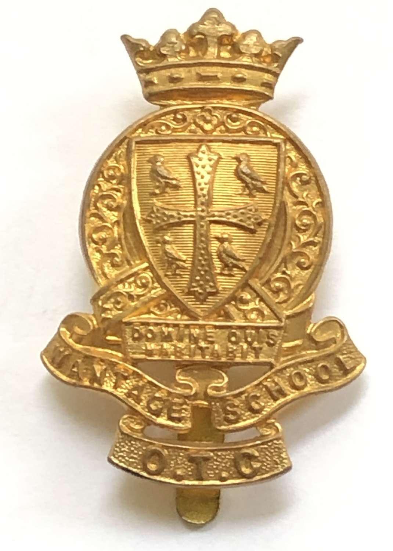 King Alfred's School OTC, Wantage pre 1940 brass cap badge