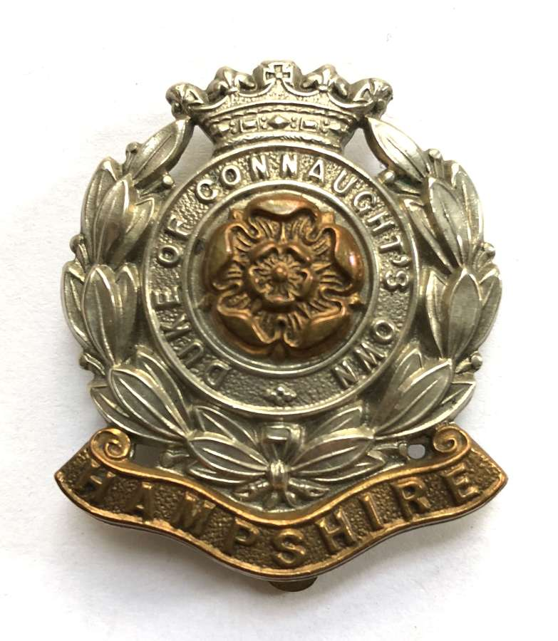 6th Bn. Hampshire Regiment post 1908 OR's cap badge