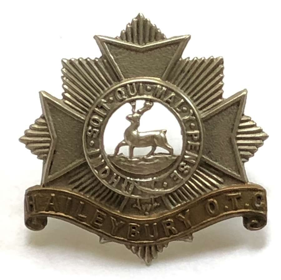 Haileybury OTC pre 1942 cap badge
