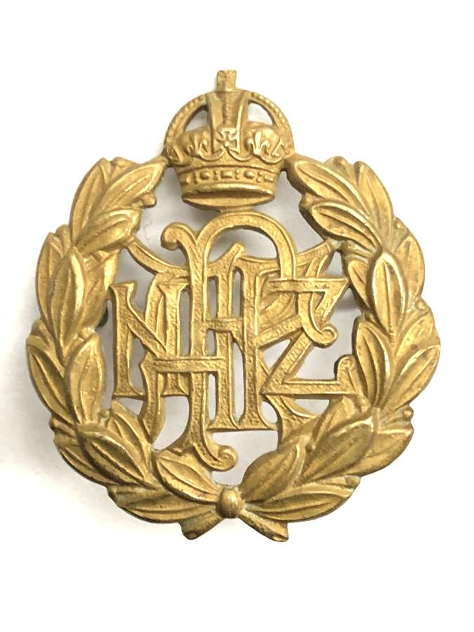 Royal New Zealand Air Force WW2 OR's cap badge