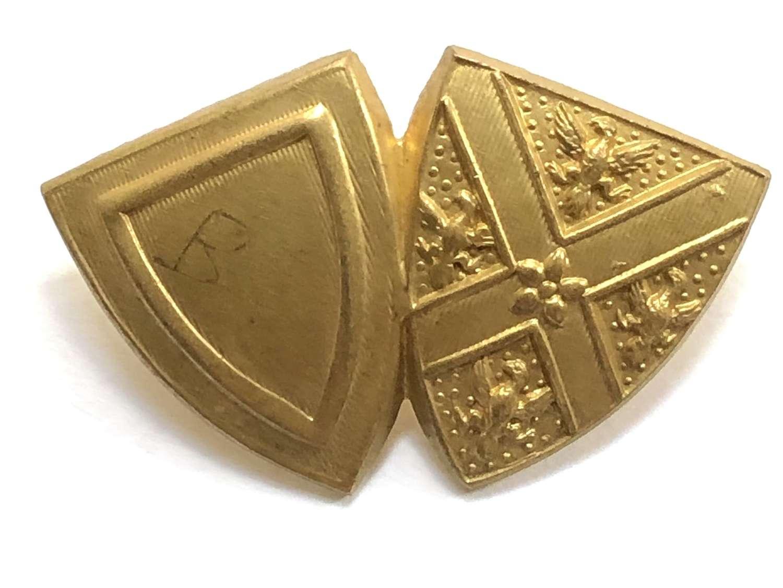 Barnard Castle School OTC brass cap badge.