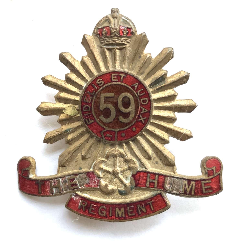 59th Australian Infantry Bn (Coburg-Brunswick Regt) slouch hat badge