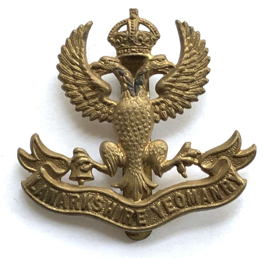 Lanarkshire Yeomanry post 1908 cap badge
