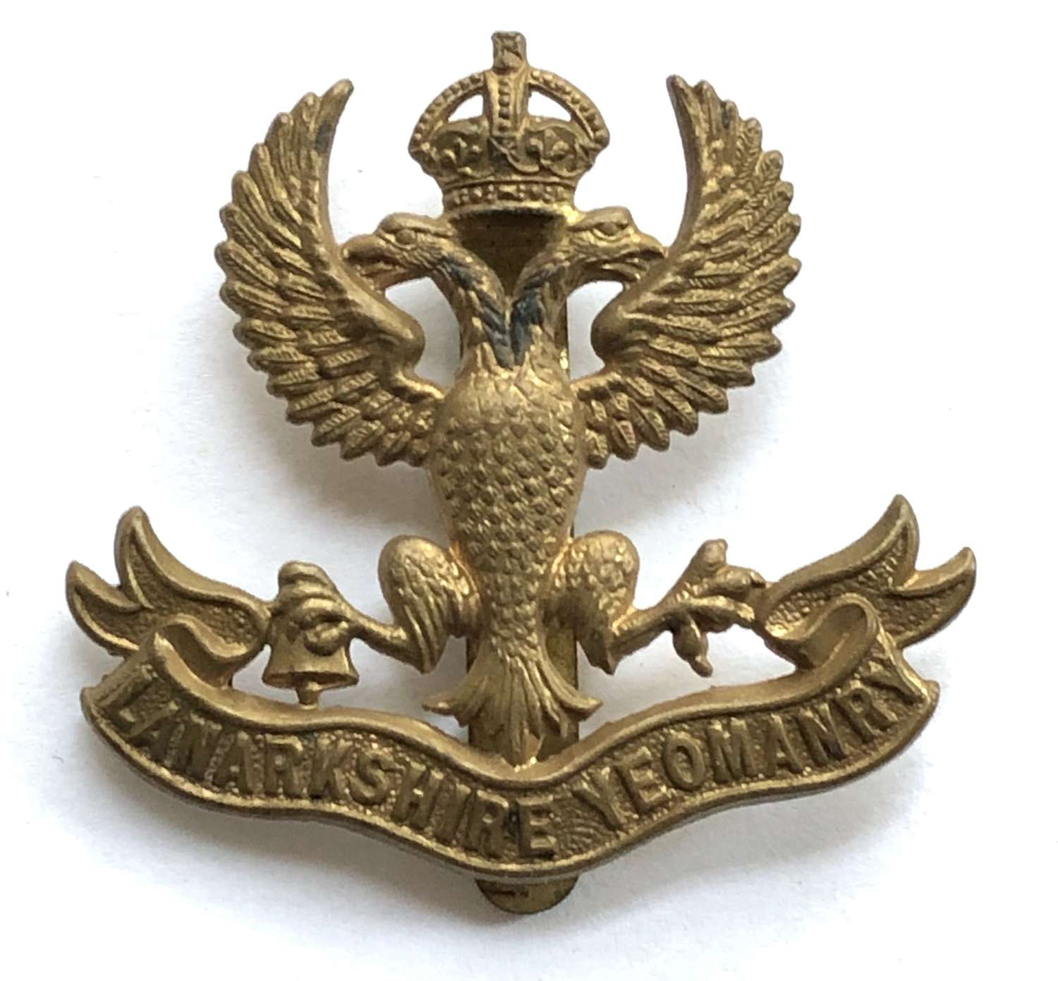 Lanarkshire Yeomanry post 1908 cap badge