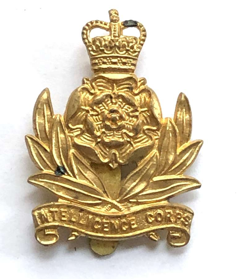 Intelligence Corps 1950's brass cap badge by Gaunt, London