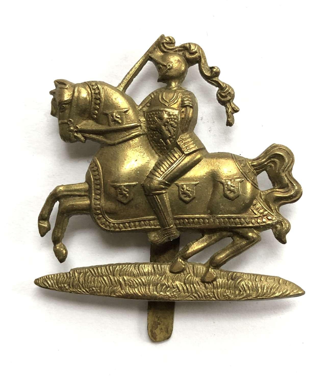 14th (Fife & Forfar Yeo) Bn. Black Watch brass cap badge c1917-18