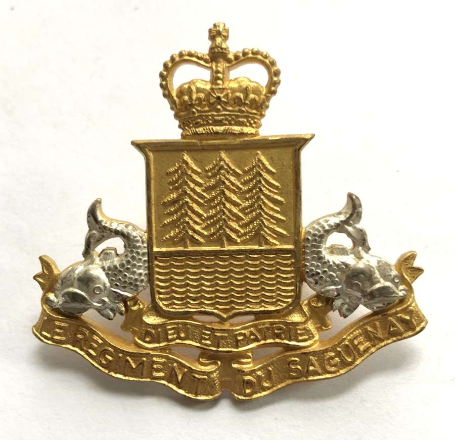 Canadian Le Regiment du Saguenay post 1953 Officer's cap badge