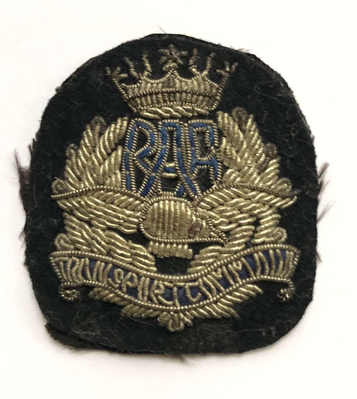 RAF Transport Command WW2 silver bullion cap badge circa 1943-45