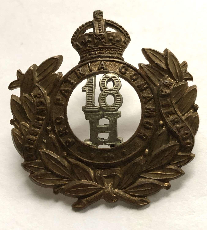 18th Hussars Edwardian cap badge circa 1901-04