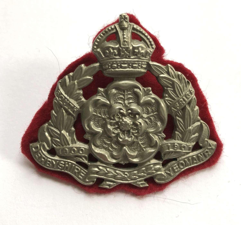 Derbyshire Yeomanry post 1908 NCO's arm badge
