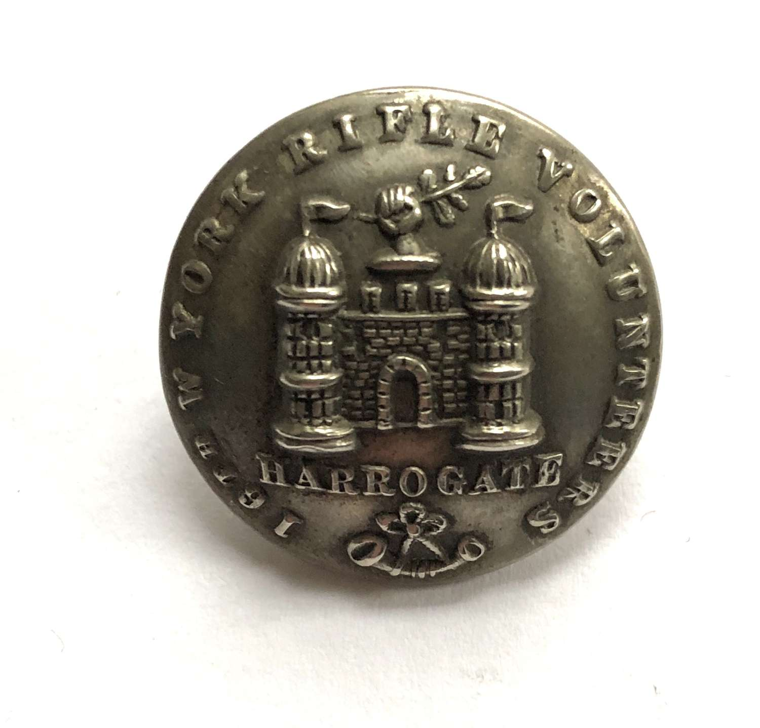 16th (Harrogate) West York Rifle Volunteers Victorian tunic button
