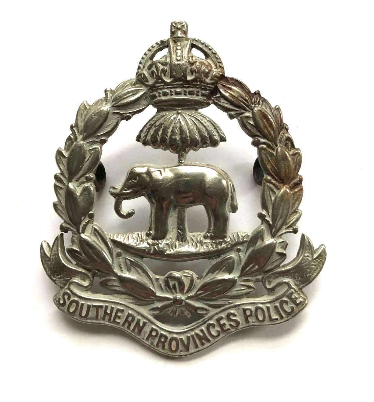 Nigeria. Southern Provinces Police post 1901 cap badge