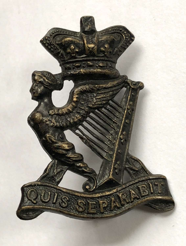 Royal Irish Rifles Victorian field service cap badge circa 1896-1901