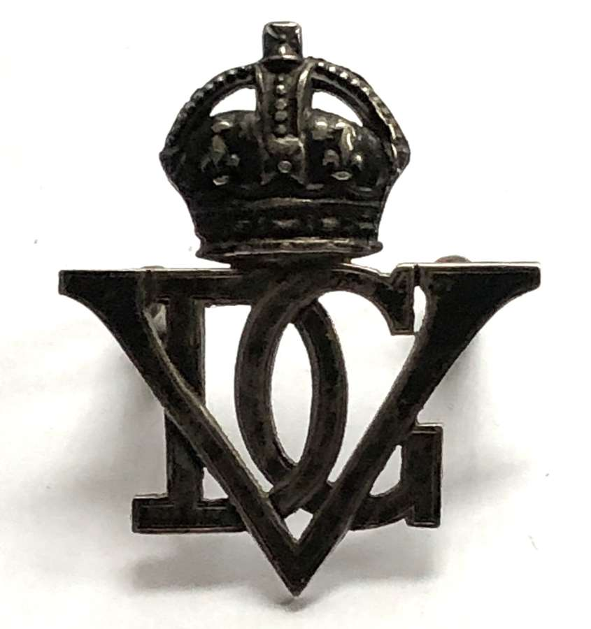 5th Royal Inniskilling Dragoon Guards silver cap badge