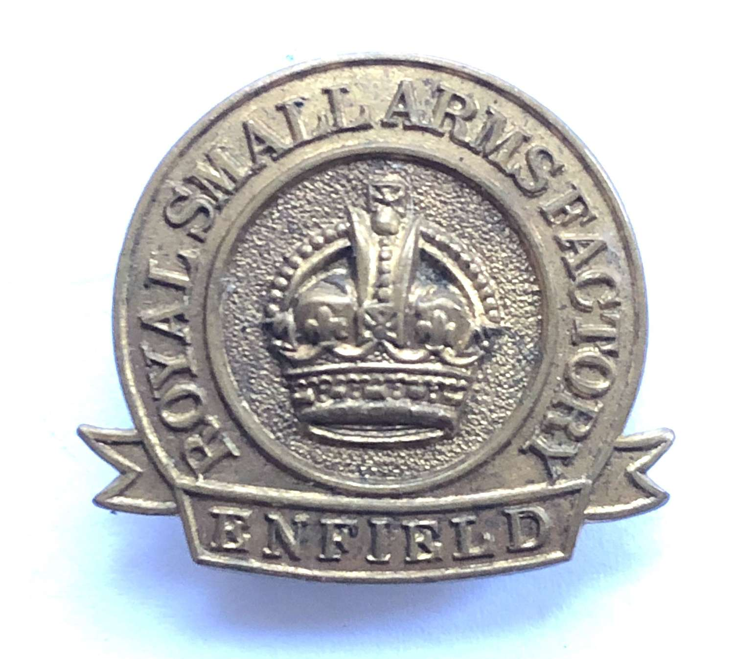WW2 Royal Small Arms Factory Enfield ROF war worker badge