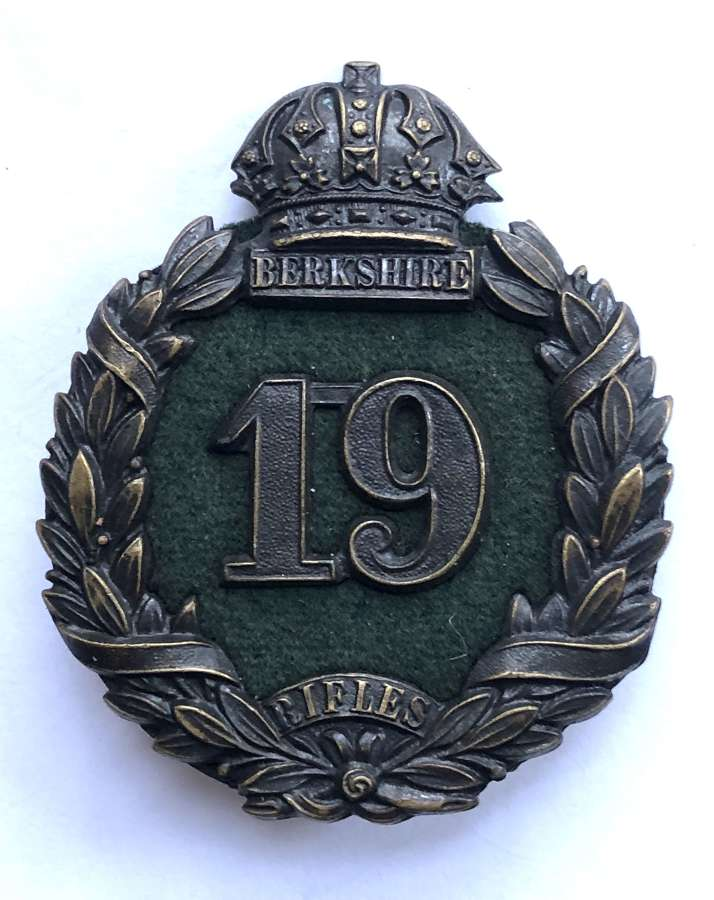 Berkshire Rifles Victorian forage cap badge