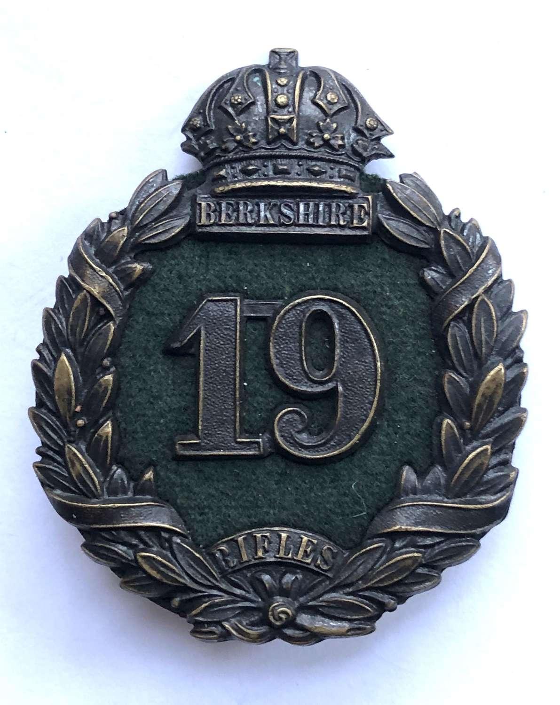 Berkshire Rifles Victorian forage cap badge