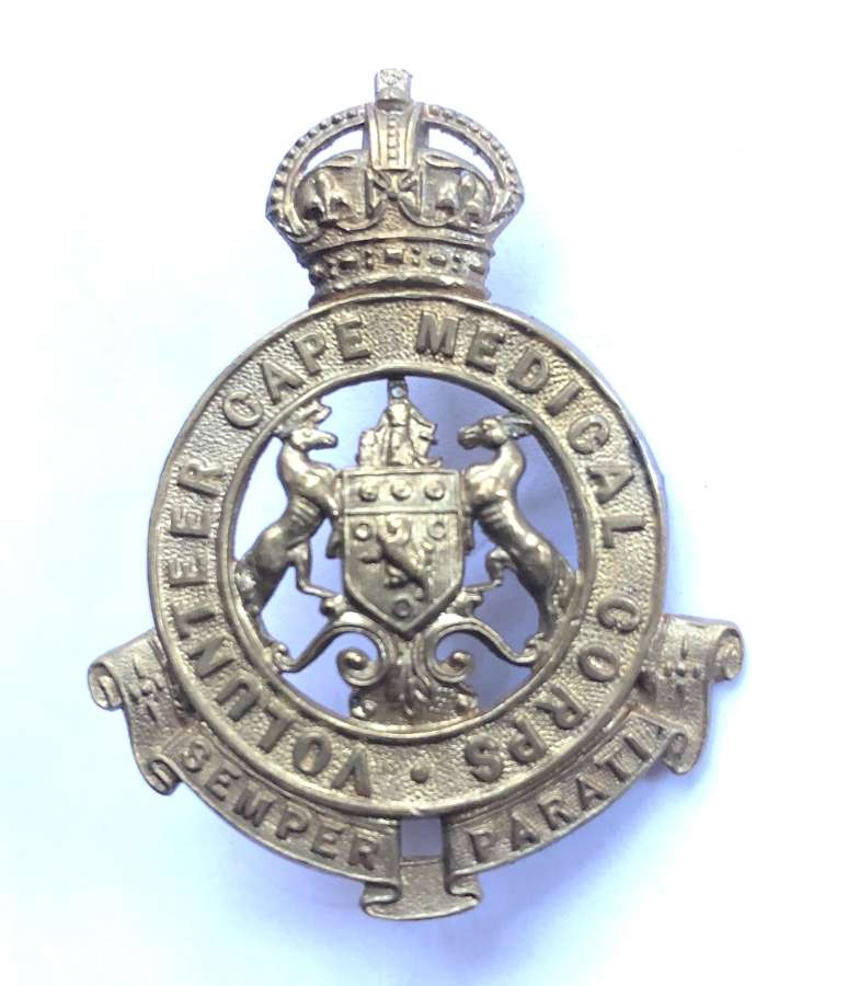 South Africa. Volunteer Cape Medical Corps cap badge c1903-13